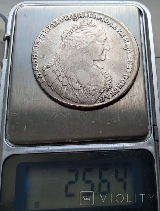 Рубль 1737 лот 1, фото №6