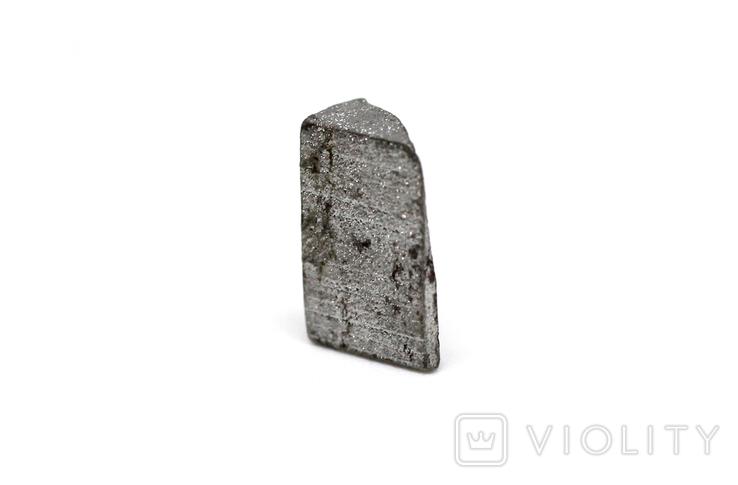 Заготовка-вставка з метеорита Seymchan, 1,1 г, із сертифікатом автентичності, фото №8
