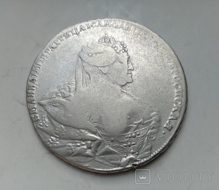 Рубль 1737 лот 2, фото №2