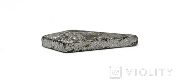 Заготовка-вставка з метеорита Seymchan, 1,8 г, із сертифікатом автентичності, фото №9