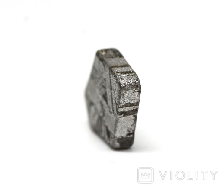 Заготовка-вставка з метеорита Seymchan, 1,8 г, із сертифікатом автентичності, фото №5