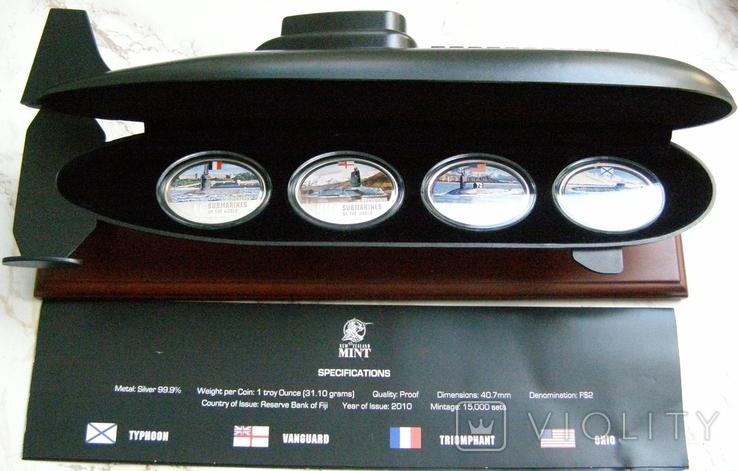 """Набор монет """"Субмарины мира"""", 2010 г., фото №5"""