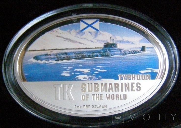 """Набор монет """"Субмарины мира"""", 2010 г., фото №9"""