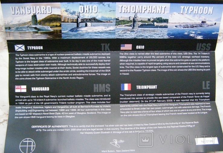 """Набор монет """"Субмарины мира"""", 2010 г., фото №11"""