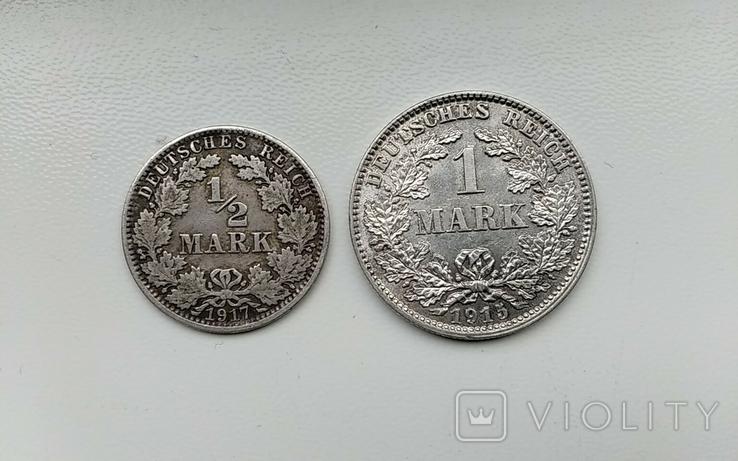 1 марка1915 г и1/2 марки1917 г., фото №2