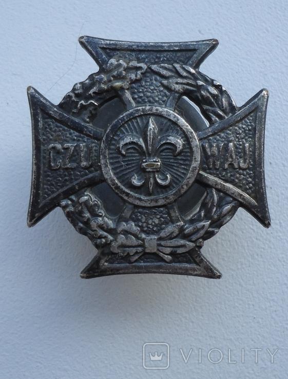 Знак CZU WAJ Харцерский крест, Польша., фото №2