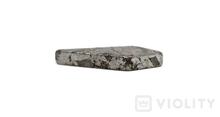 Заготовка-вставка з метеорита Seymchan, 1,4 г, із сертифікатом автентичності, фото №6