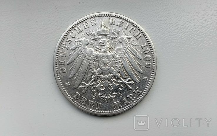 3 марки 1909 г. Пруссии, фото №3