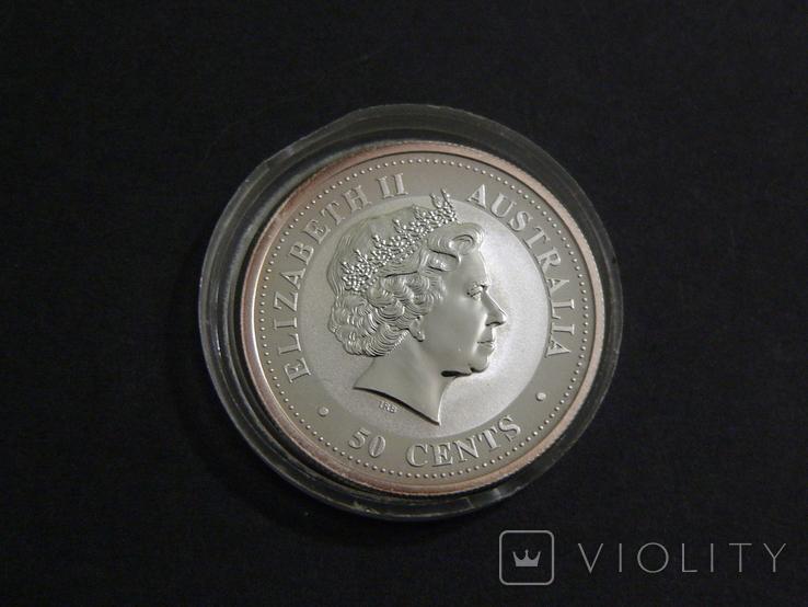 Австралия, 1-й Лунар Год Собаки, 2006 - 1/2 унции, серебро 999, 50 центов, фото №3