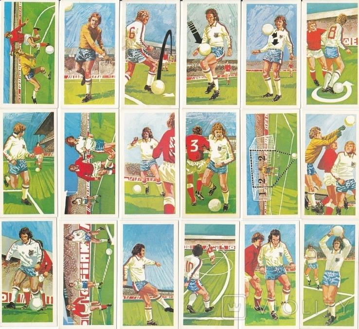 """Карточки-вкладыши коллекционные """"Play Better Soccer""""(29 листов) Англия, фото №2"""