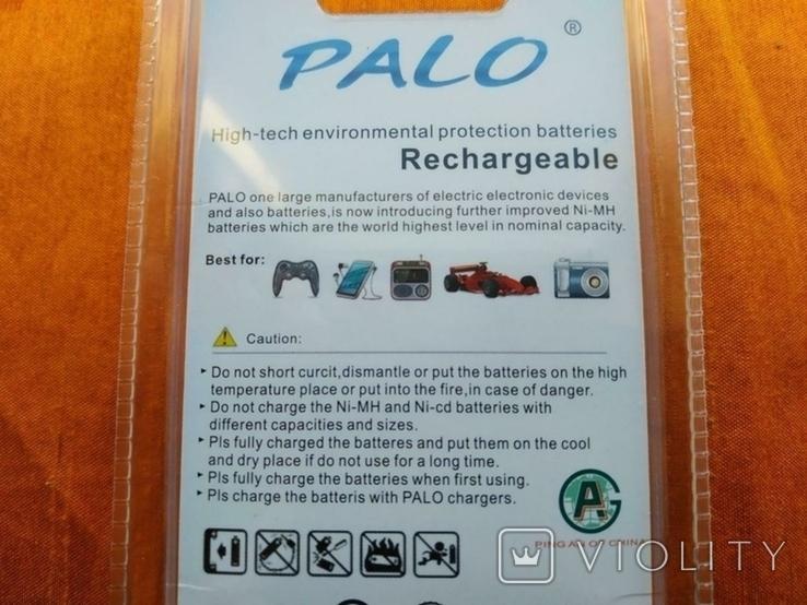 Аккумуляторы Palo АА 3000mAh 4 шт + Подарок, фото №5