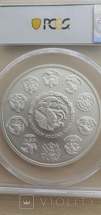 Серебрянная монета Libertad 5 oz PCGS MS70 2019, фото №3