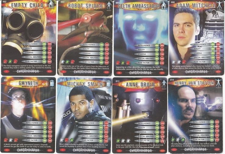 """43.Карточки детские коллекционные """"Doctor Who.Battles in time"""" (58 листов) Англия, фото №4"""