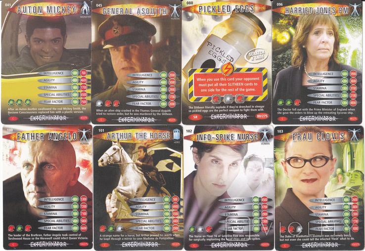 """43.Карточки детские коллекционные """"Doctor Who.Battles in time"""" (58 листов) Англия, фото №5"""