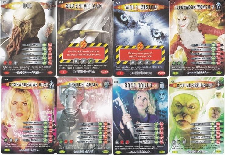 """43.Карточки детские коллекционные """"Doctor Who.Battles in time"""" (58 листов) Англия, фото №8"""