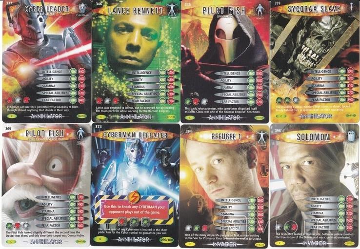 """43.Карточки детские коллекционные """"Doctor Who.Battles in time"""" (58 листов) Англия, фото №9"""