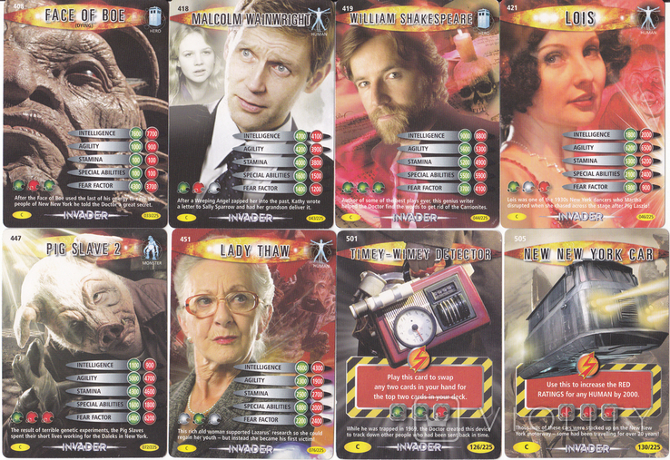 """43.Карточки детские коллекционные """"Doctor Who.Battles in time"""" (58 листов) Англия, фото №10"""