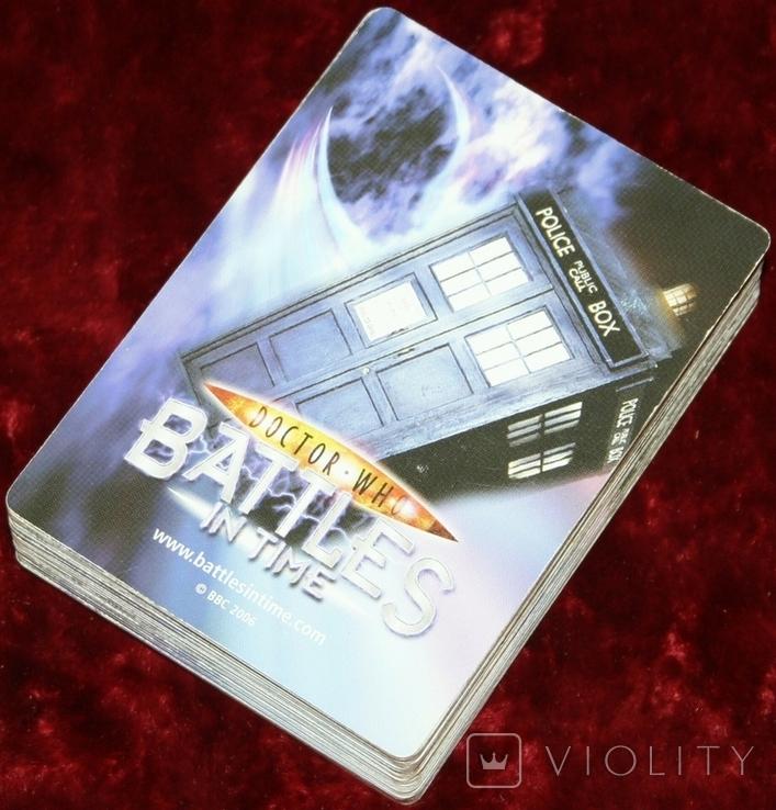 """43.Карточки детские коллекционные """"Doctor Who.Battles in time"""" (58 листов) Англия, фото №12"""