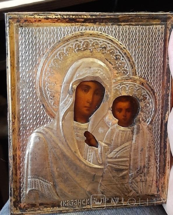 Икона Казанская БМ 84 серебро, фото №2