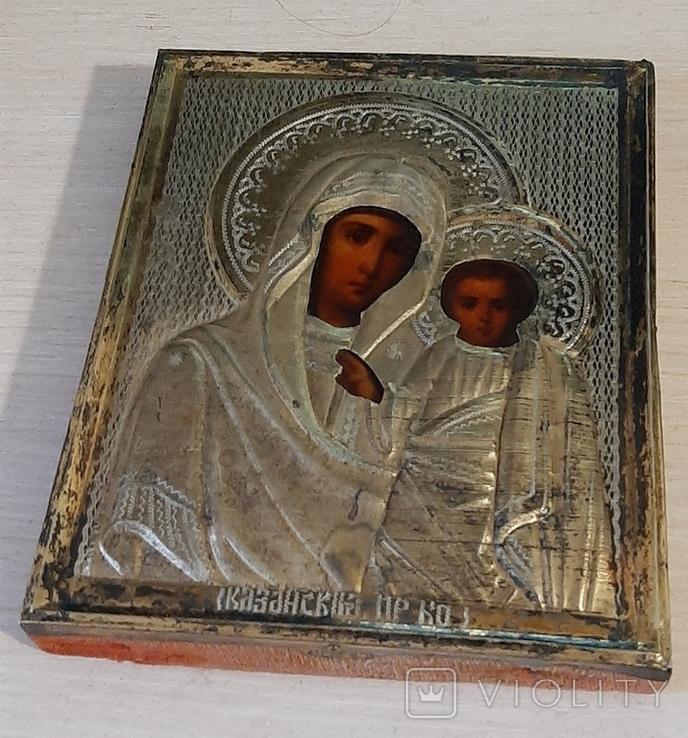 Икона Казанская БМ 84 серебро, фото №9
