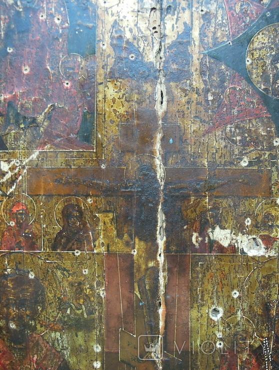 Староверческая Ветковская Икона четырехчастник с Распятием Господним, фото №5