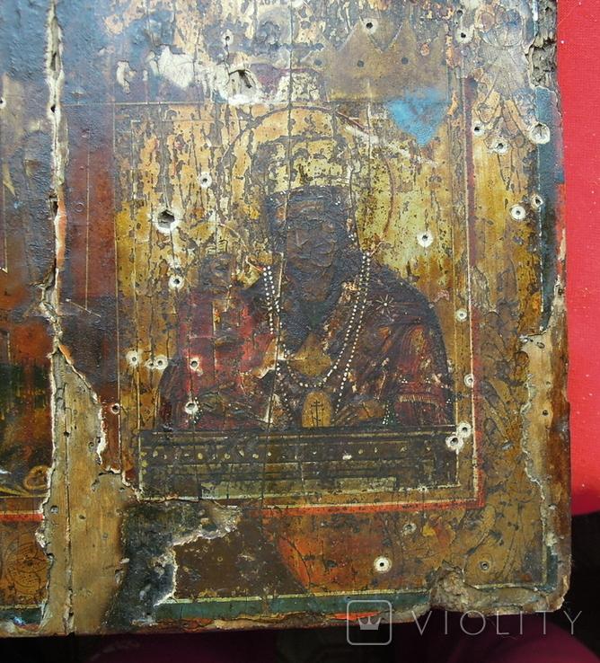 Староверческая Ветковская Икона четырехчастник с Распятием Господним, фото №9