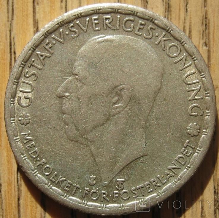 1 крона 1950 Швеция, фото №3