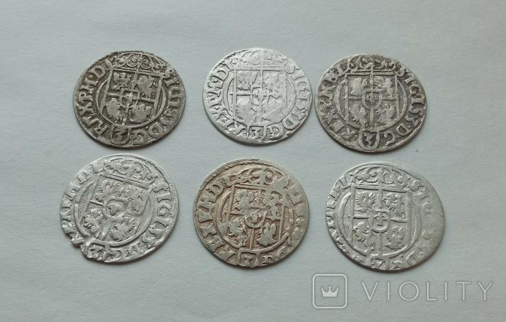 Півторак Сігізмунда III Вази 1620-1625рр. 6шт., фото №7