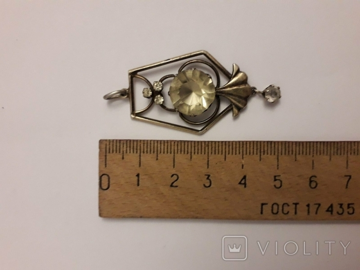 Срібний кулон СРСР, фото №7