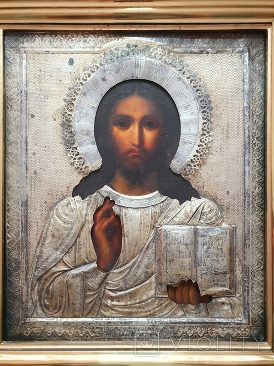 Икона Иисус Христос. Аналой., фото №3