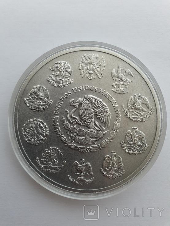 Серебрянная монета Libertad antiqued finish 5 oz 2019, фото №3
