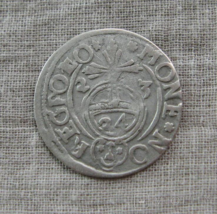Полторак ( 1/24 талера ) 1623 года. Сиг. ІІІ Ваза. POL(L)O., фото №3