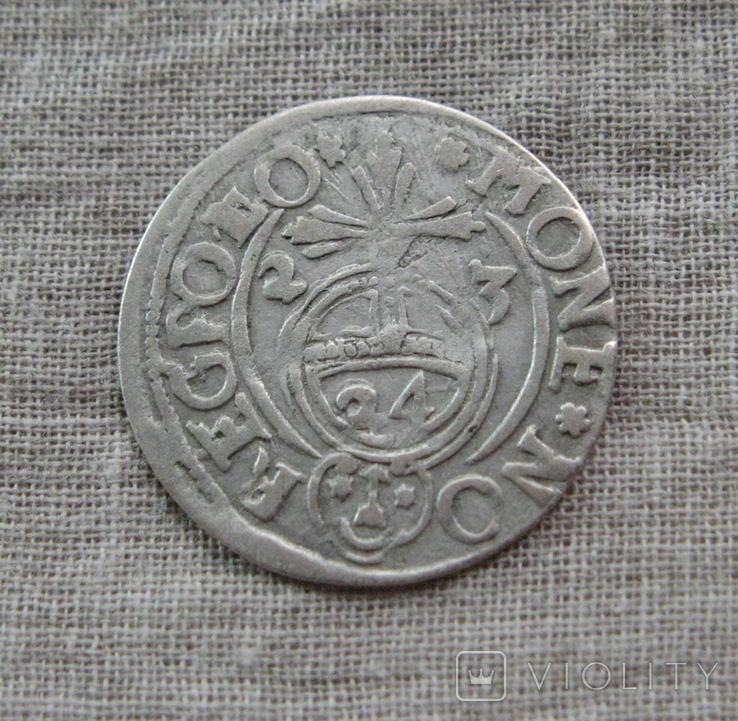 Полторак ( 1/24 талера ) 1623 года. Сиг. ІІІ Ваза. POL(L)O., фото №6