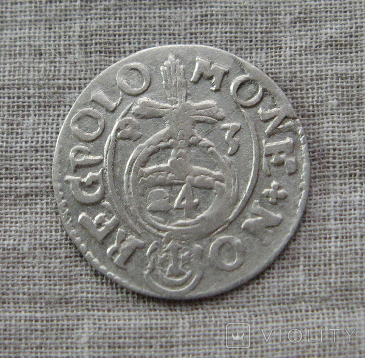 Полторак ( 1/24 талера ) 1623 года. Сиг. ІІІ Ваза. REGPOLO ( Без Разделительных Знаков )., фото №2
