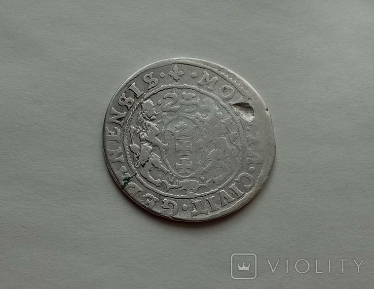 Орт 1624года (Гданск) Перерезка даты №6, фото №4