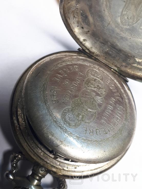 """Swiss pocket watch. Часы карманные. Швейцария. Тематические """"Охота""""., фото №8"""