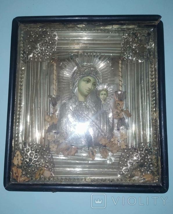 Божья Матерь старая икона, фото №6