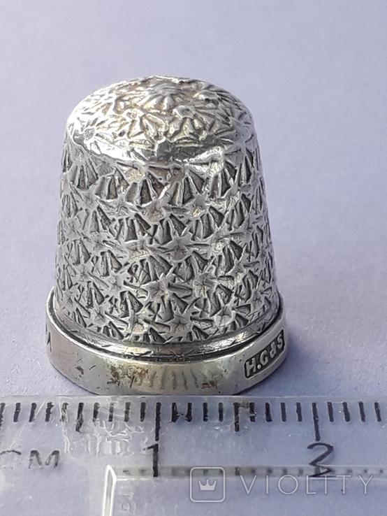 Напёрсток, наперсток, серебро, 3.1 грамма, Великобритания, 1928 год, фото №3