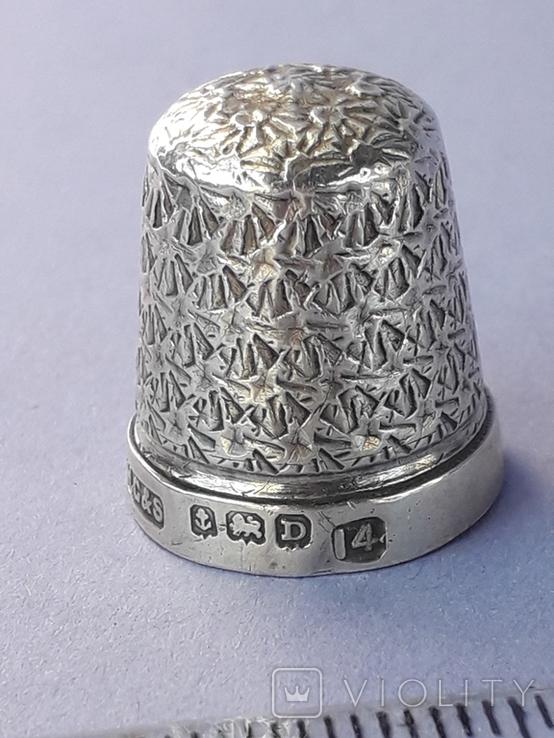Напёрсток, наперсток, серебро, 3.1 грамма, Великобритания, 1928 год, фото №4