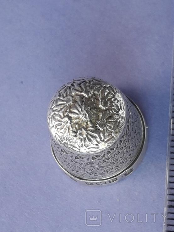 Напёрсток, наперсток, серебро, 3.1 грамма, Великобритания, 1928 год, фото №8