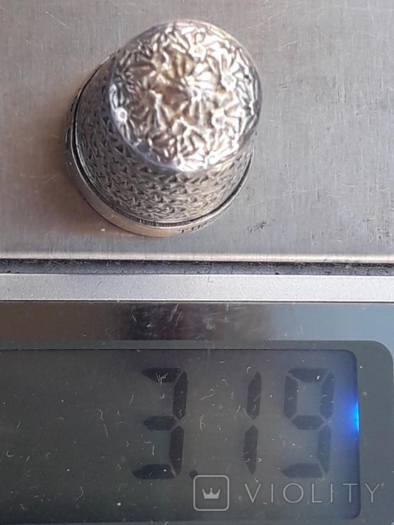 Напёрсток, наперсток, серебро, 3.1 грамма, Великобритания, 1928 год, фото №10