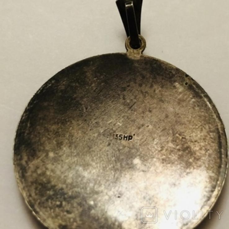 Кулон серебро 835 HP штихель старенький, фото №8