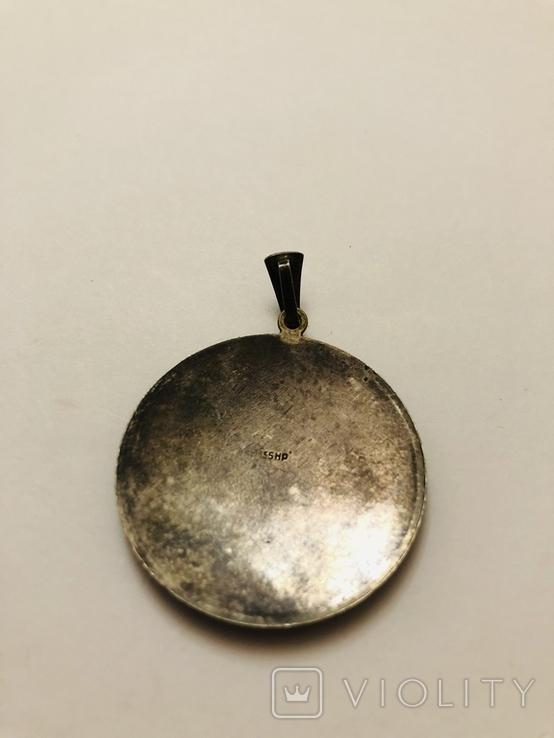 Кулон серебро 835 HP штихель старенький, фото №9