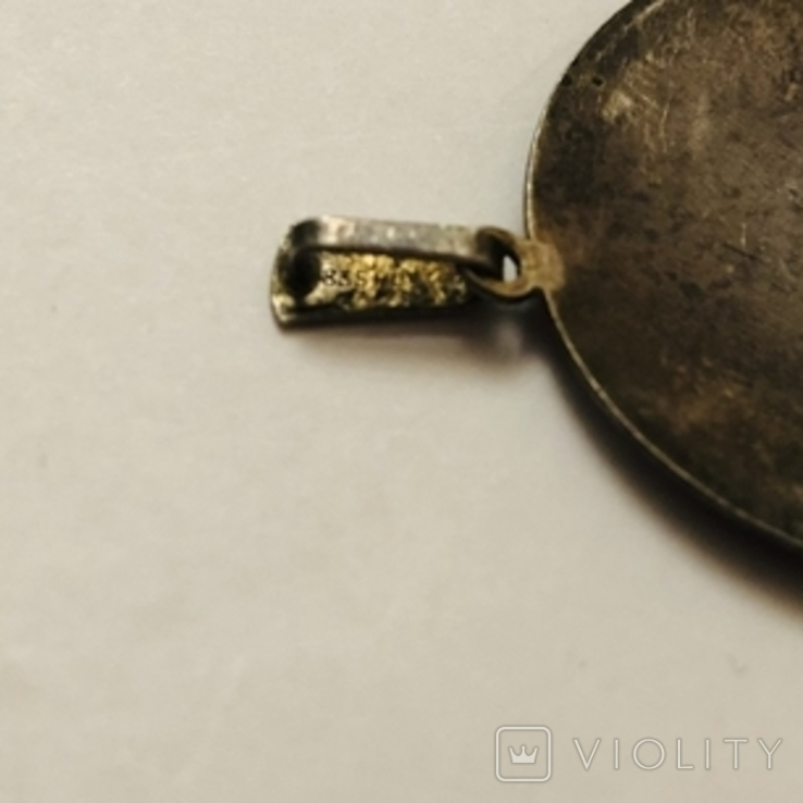 Кулон серебро 835 HP штихель старенький, фото №10