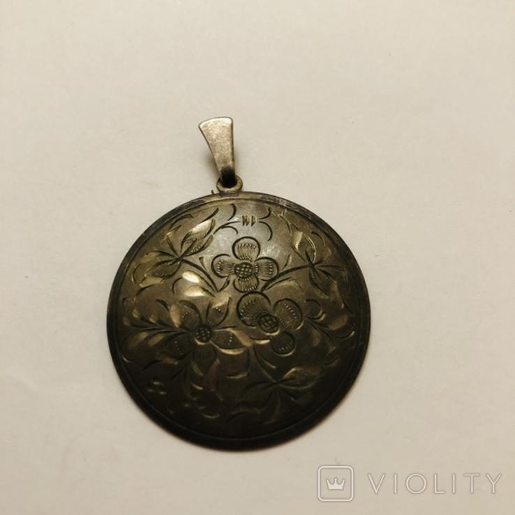 Кулон серебро 835 HP штихель старенький, фото №12