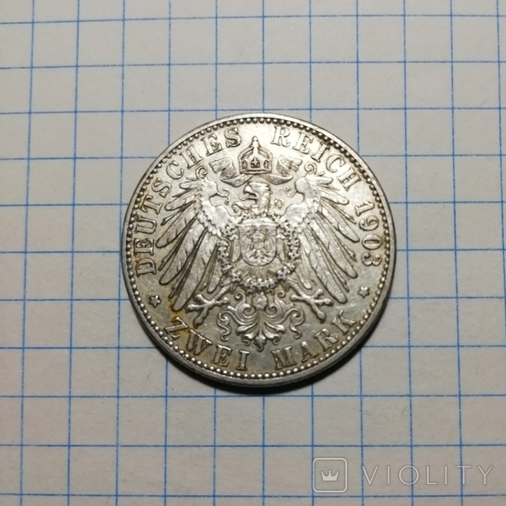 Баден 2 марки 1903 г., фото №3
