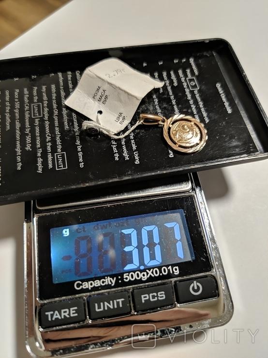 Подвеска Козерог. Вес 2.79 грамм. Оригинальная бирка. Производство КЮЗ., фото №7