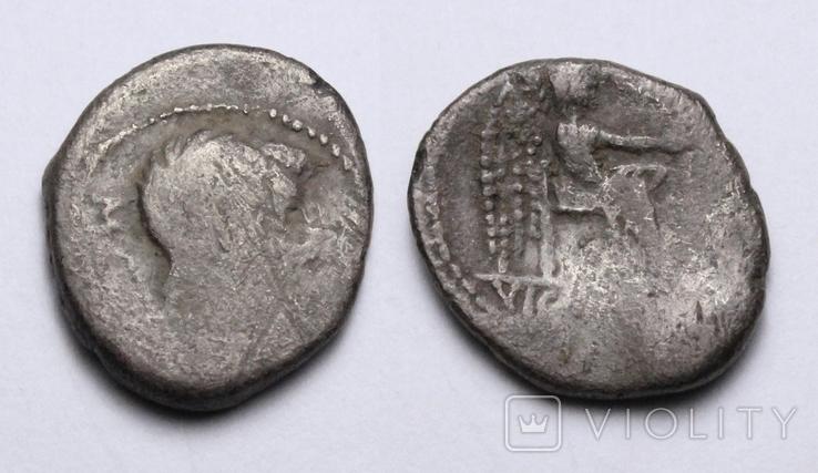 Марк Порцій Катон, 89р. до н.е. срібний квінарій, м.Рим., фото №2