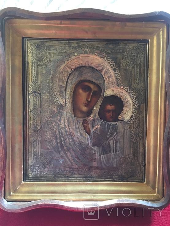 Икона Казанской Богородицы. Серебро, фото №3
