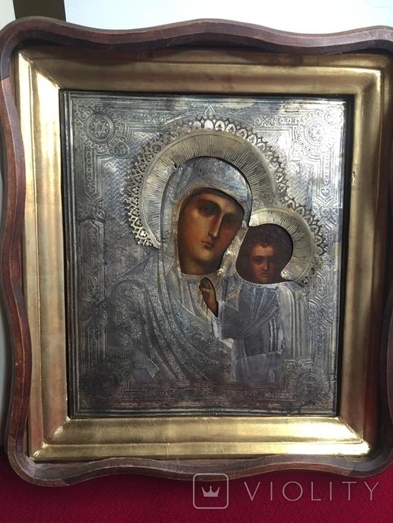 Икона Казанской Богородицы. Серебро, фото №2
